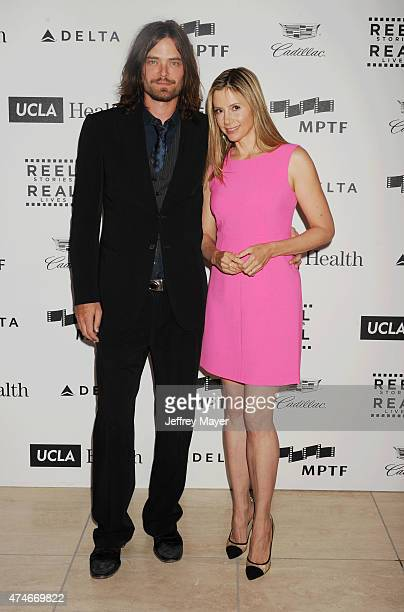 Actress Mira Sorvino and her husband actor Christopher Backus arrive at the 4th Annual Reel Stories Real Lives event benefiting the Motion Picture...