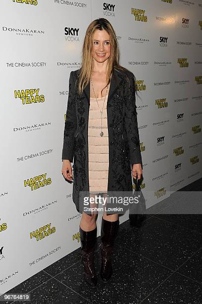 Actress Mira Sorvino attends a screening of Happy Tears hosted by the Cinema Society and Donna Karan at The Museum of Modern Art on February 16 2010...