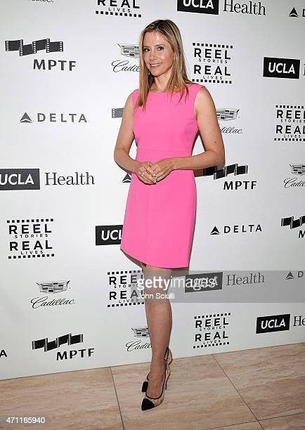 Actress Mira Sorvino attends the 4th Annual Reel Stories Real Lives benefiting the Motion Picture Television Fund at Milk Studios on April 25 2015 in...