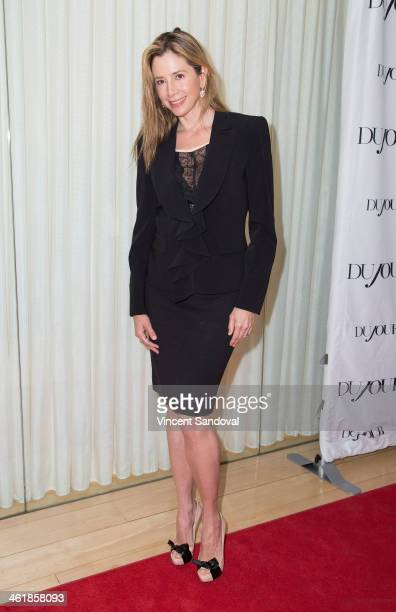 Actress Mira Sorvino attends the DuJour Magazine celebrates great performances issue featuring 12 Years A Slave Golden Globe Nominee Lupita Nyong'o...