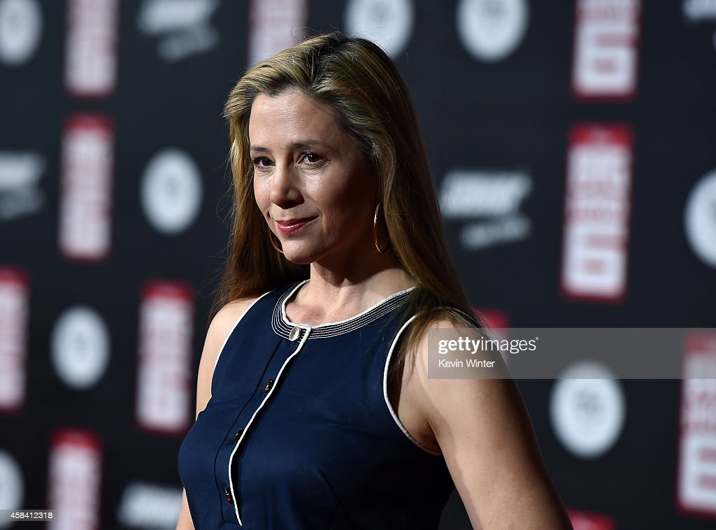 Actress Mira Sorvino attends the premiere of Disney's 'Big Hero 6' at the El Capitan Theatre on November 4, 2014 in Hollywood, California.
