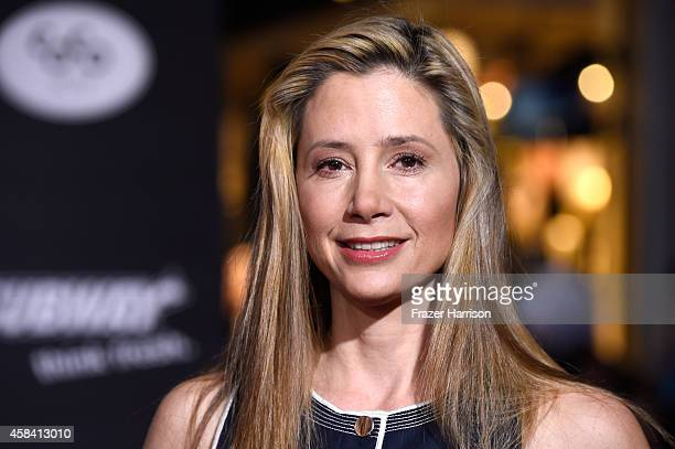 Actress Mira Sorvino attends the premiere of Disney's Big Hero 6 at the El Capitan Theatre on November 4 2014 in Hollywood California