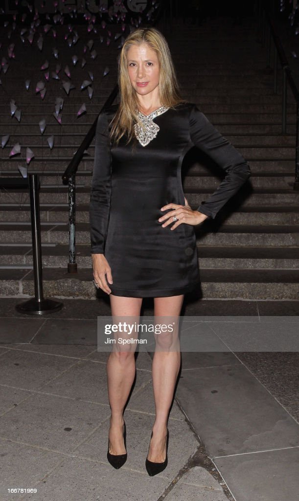 Actress Mira Sorvino attends the Vanity Fair Party during the 2013 Tribeca Film Festival at the State Supreme Courthouse on April 16, 2013 in New York City.
