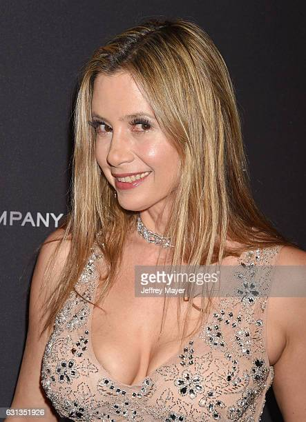Actress Mira Sorvino attends The Weinstein Company and Netflix Golden Globe Party presented with FIJI Water Grey Goose Vodka Lindt Chocolate and...