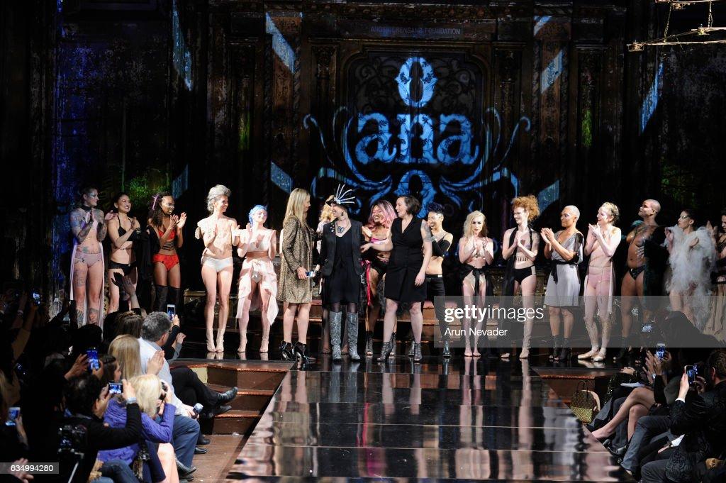 AnaOno Intimates X #Cancerland at New York Fashion Week Art Hearts Fashion NYFW FW/17 : News Photo