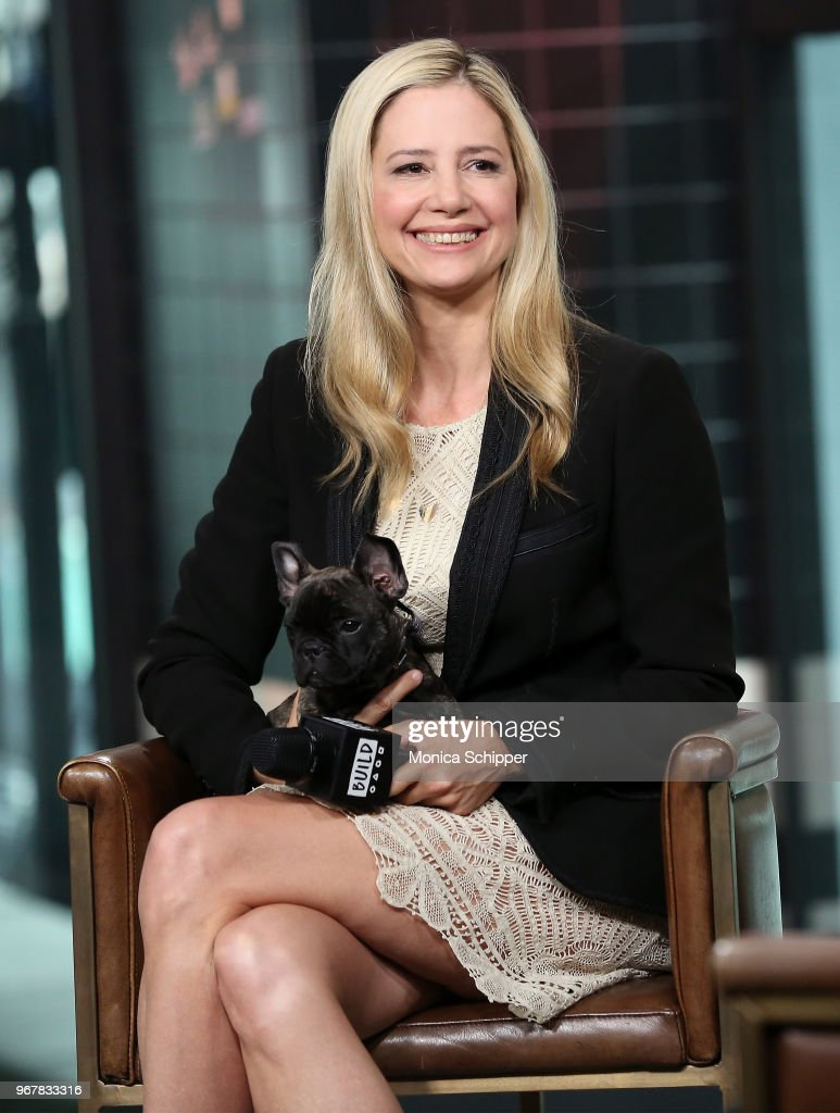 Actress Mira Sorvino visits Build Studio to discuss her new television show 'Condor' on June 5, 2018 in New York City.