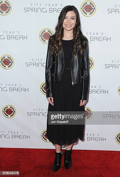 Actress Miranda Cosgrove arrives at City Year Los Angeles' Spring Break Destination Education at Sony Pictures Studios on May 7 2016 in Culver City...