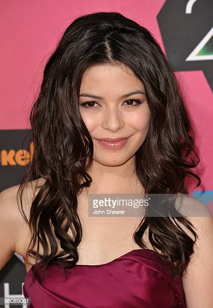 Actress Miranda Cosgrove arrives at Nickelodeon's 23rd annual Kid's Choice Awards at Pauley Pavilion on March 27 2010 in Los Angeles California