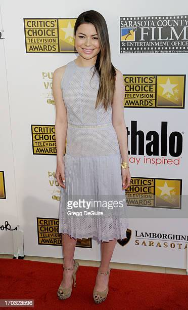 Actress Miranda Cosgrove arrives at the Broadcast Television Journalists Association 3rd Annual Critics' Choice Television Awards at The Beverly...