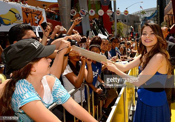 Actress Miranda Cosgrove arrives at the 'Despicable Me 2' premiere at Universal CityWalk on June 22 2013 in Universal City California