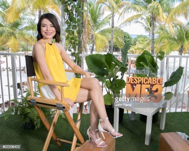 Actress Miranda Cosgrove attends Despicable Me 3 Press Junket at Nikki Beach on June 27 2017 in Miami Beach Florida