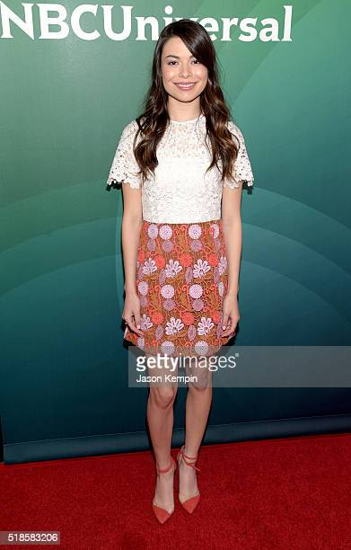 Actress Miranda Cosgrove attends the 2016 NBCUniversal Summer Press Day at Four Seasons Hotel Westlake Village on April 1 2016 in Westlake Village...