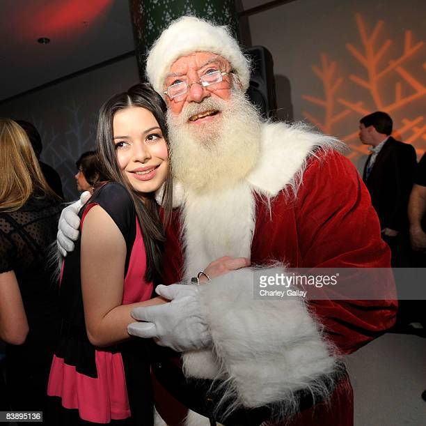Actress Miranda Cosgrove attends the after party for Merry Christmas Drake Josh at the Westside Pavillion on December 2 2008 in Westwood California