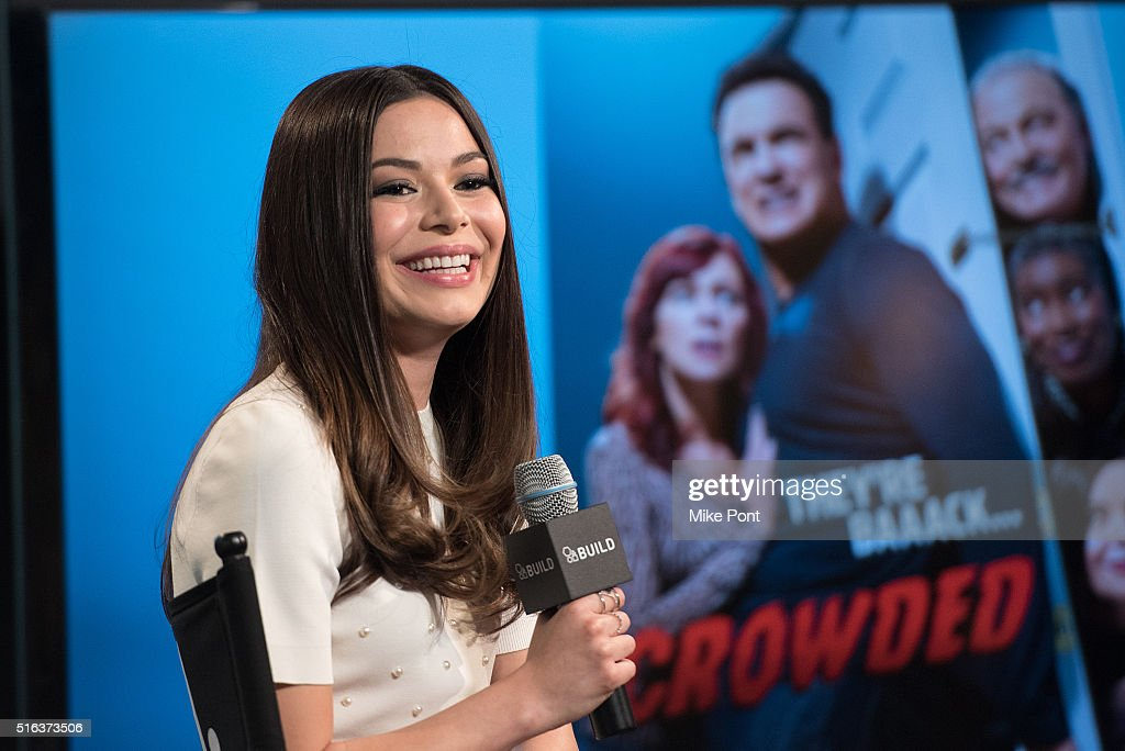 Actress Miranda Cosgrove attends the AOL Build Speaker Series to discuss her new show 'Crowded' at AOL Studios In New York on March 18, 2016 in New York City.