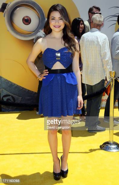 Actress Miranda Cosgrove attends the premiere of Universal Pictures' 'Despicable Me 2' at the Gibson Amphitheatre on June 22 2013 in Universal City...