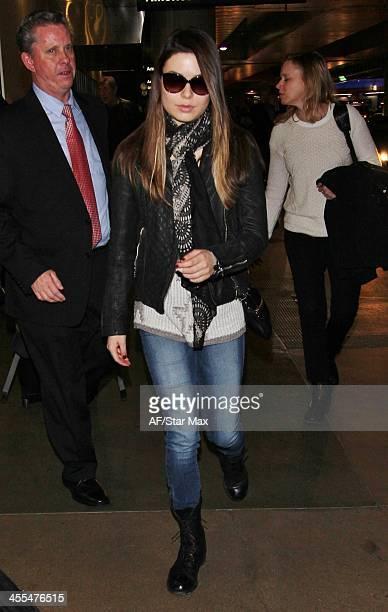 Actress Miranda Cosgrove is seen on December 11 2013 in Los Angeles California