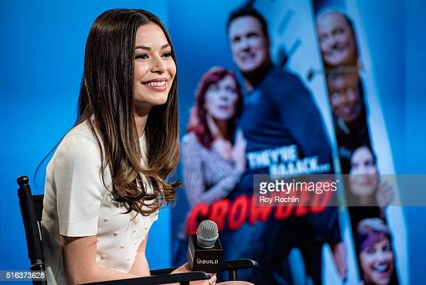 Actress Miranda Cosgrove speaks about the show 'Crowded' during AOL Build at AOL Studios In New York on March 18 2016 in New York City