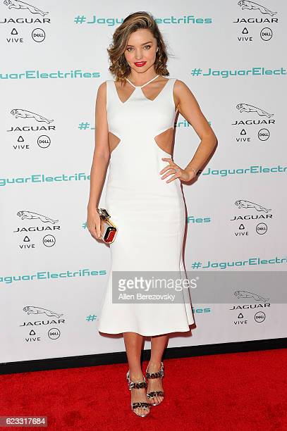 Actress Miranda Kerr attends the Next Era Jaguar Vehicle Unveiling Event at Milk Studios on November 14 2016 in Los Angeles California
