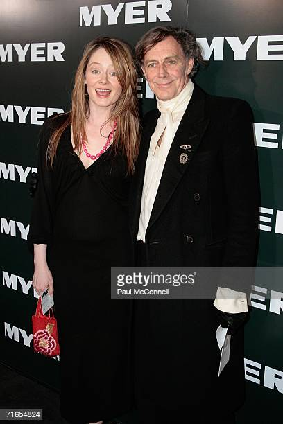 Actress Miranda Otto and actor Barry Otto arrive at the Myer Spring/Summer Fashion Show 2006 at the Royal Hall of Industries on August 16 2006 in...