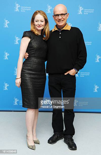 Actress Miranda Otto and director Bruno Barreto attend the 'Reaching For The Moon' Photocall during the 63rd Berlinale International Film Festival at...