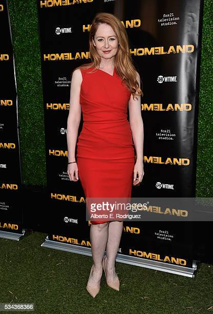 Actress Miranda Otto attends an Emmy For Your Consideration Event for Showtime's 'Homeland' at the Zanuck Theater at 20th Century Fox Lot on May 25...