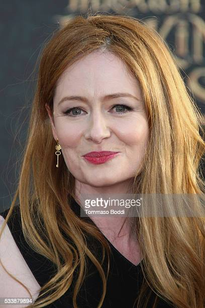 Actress Miranda Otto attends the premiere of Disney's 'Alice Through The Looking Glass' at the El Capitan Theatre on May 23 2016 in Hollywood...