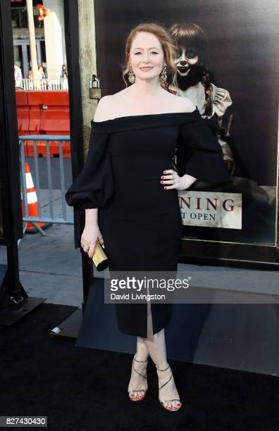 Actress Miranda Otto attends the premiere of New Line Cinema's 'Annabelle Creation' at TCL Chinese Theatre on August 7 2017 in Hollywood California