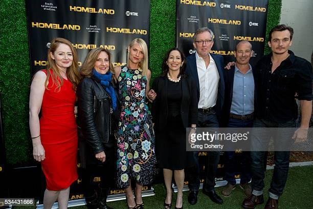 Actress Miranda Otto Director/ Exec Producer Lesli Link Glatter Actress Claire Danes Showrunner/Exec Producer Alex Gansa and Actor Rupert Friend...