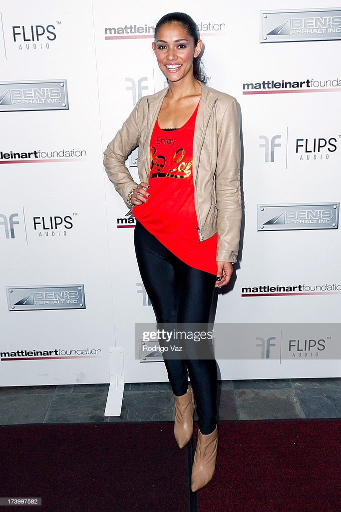 Actress Miranda Rae Mayo arrives at the Matt Leinart Foundation's 7th Annual 'Celebrity Bowl' at Lucky Strikes on July 18, 2013 in Hollywood, California.