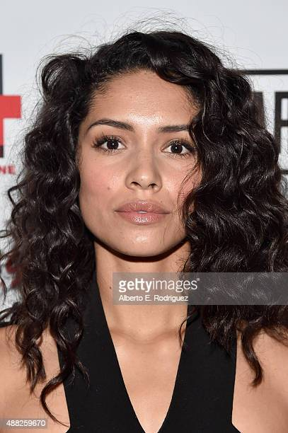 Actress Miranda Rae Mayo attends The Girl In The Photographs reception during the 2015 Toronto International Film Festival at the Adelaide West Hotel...