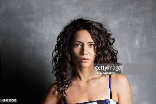 Actress Miranda Rae Mayo of the film The Girl in the Photographs is photographed for Los Angeles Times on September 25 2015 in Toronto Ontario...