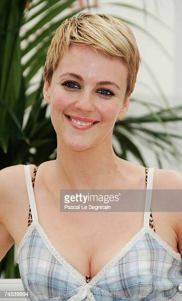 Actress Miranda Raison attends a photocall promoting the television serie 'Spooks' on the first day of the 2007 Monte Carlo Television Festival held...