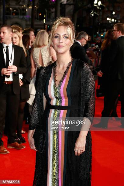 Actress Miranda Raison attends the European Premiere of Breathe on the opening night gala of the 61st BFI London Film Festival on October 4 2017 in...