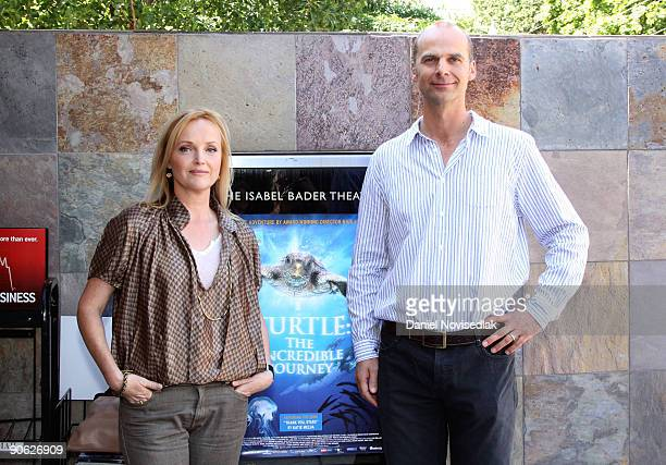 Actress Miranda Richardson and director Nick Stringer attend the 'Turtle The Incredible Journey' Premiere held at Isabel Bader Theatre during the...
