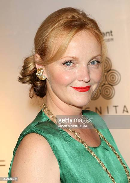 Actress Miranda Richardson arrives at the amfAR and Dignitas Inaugural Cinema Against AIDS Toronto event held at The Carlu on September 15 2009 in...