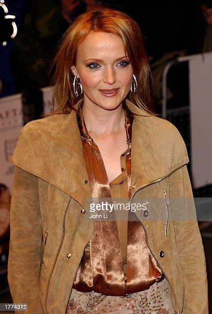 Actress Miranda Richardson arrives for the UK film premiere of The Hours held at the Chelsea Cinema February 10 2003 in London