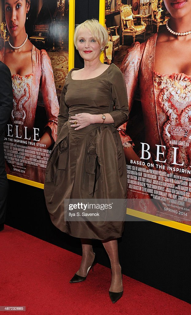 Actress Miranda Richardson attends the 'Belle' premiere at The Paris Theatre on April 28, 2014 in New York City.