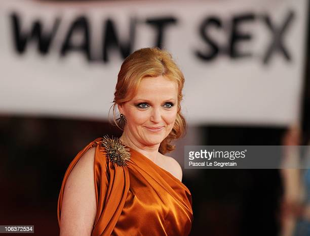 Actress Miranda Richardson attends the 'We Want Sex' premiere during The 5th International Rome Film Festival at Auditorium Parco Della Musica on...