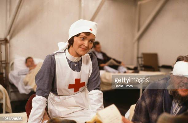 Actress Miranda Richardson in a scene from episode 'General Hospital' of the BBC television sitcom 'Blackadder Goes Forth' September 24th 1989