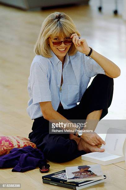 Actress Mireille Darc in her Paris Apartment