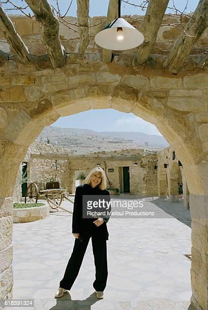 Actress Mireille Darc in Jordan