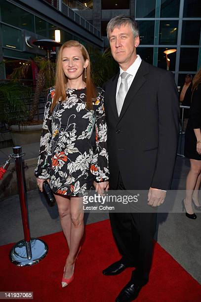 Actress Mireille Enos and actor Alan Ruck arrive at AMC's 'The Killing' Season 2 Los Angeles Premiere at ArcLight Cinemas on March 26 2012 in...