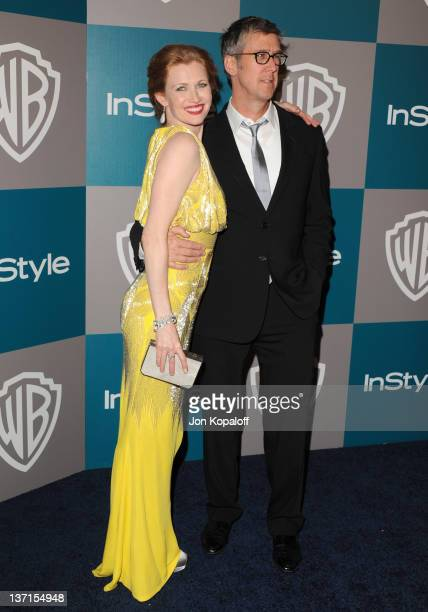 Actress Mireille Enos and actor Alan Ruck arrives at the 13th Annual Warner Bros And InStyle Golden Globe After Party held at The Beverly Hilton...