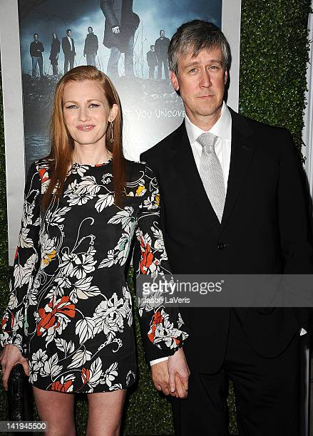 Actress Mireille Enos and actor Alan Ruck attend the season 2 premiere of AMC's 'The Killing' at ArcLight Cinemas on March 26 2012 in Hollywood...