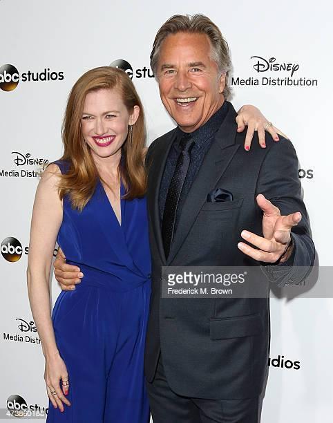Actress Mireille Enos and actor Don Johnson attend Disney Media Disribution International Upfronts at Walt Disney Studios on May 17 2015 in Burbank...