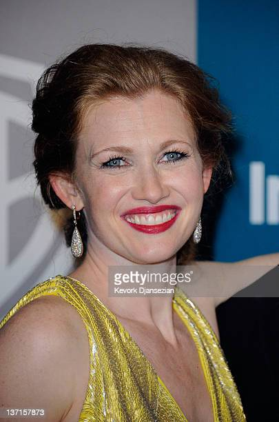 Actress Mireille Enos arrives at 13th Annual Warner Bros And InStyle Golden Globe Awards After Party at The Beverly Hilton hotel on January 15 2012...