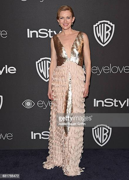 Actress Mireille Enos arrives at the 18th Annual PostGolden Globes Party hosted by Warner Bros Pictures and InStyle at The Beverly Hilton Hotel on...