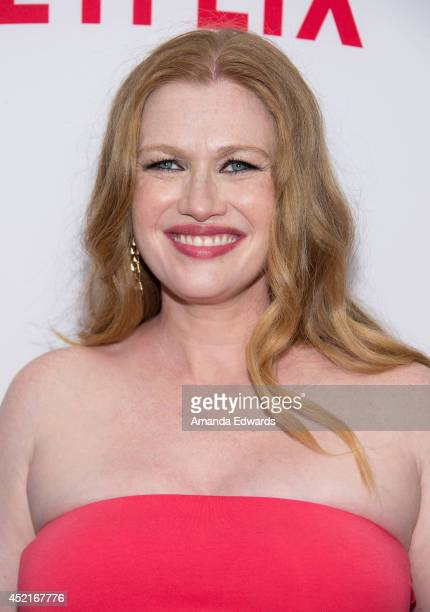 Actress Mireille Enos arrives at the Los Angeles premiere of Season 4 of the Netflix Original Series 'The Killing' at ArcLight Hollywood on July 14...