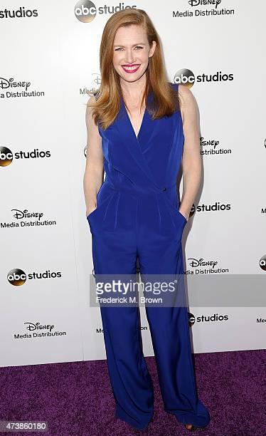 Actress Mireille Enos attends Disney Media Disribution International Upfronts at Walt Disney Studios on May 17 2015 in Burbank California