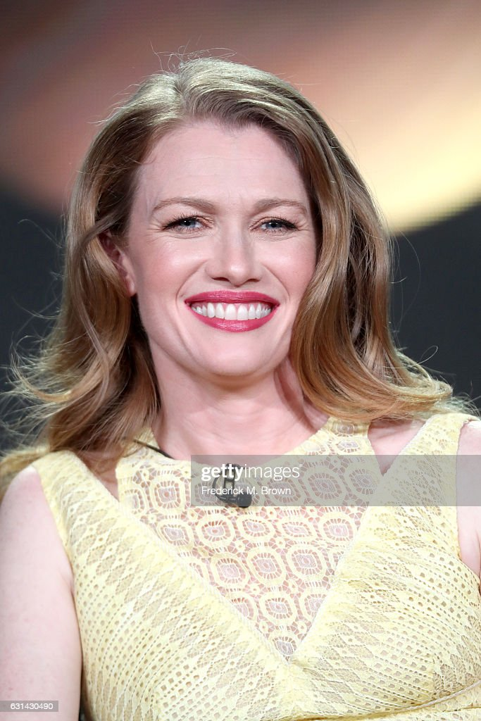 Actress Mireille Enos of the television show 'The Catch' speaks onstage during the Disney-ABC portion of the 2017 Winter Television Critics Association Press Tour at Langham Hotel on January 10, 2017 in Pasadena, California.